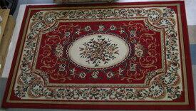 お買い得【即納可!!】再入荷しました♪ウィルトン織り絨毯 レッドサイズ:160×230cm