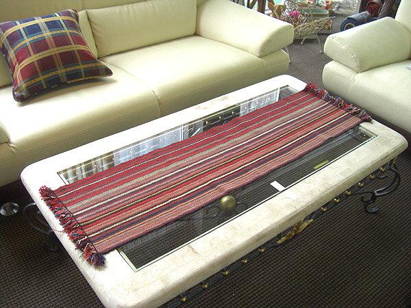 【即納可!!】新入荷♪手織りキリム ジャジム テーブルセンターA125x31.5cm