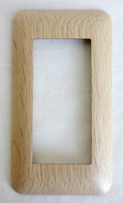 【即納可!!】再入荷しました♪国産 木製 スイッチプレート ナラ材 ワイドタイプ※ネジが不要!!取付が簡単な磁石タイプ♪