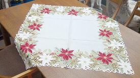 【即納可!!】再入荷しました♪テーブルクロス トップクロス レッド クリスマス約85X85cm ポインセチア
