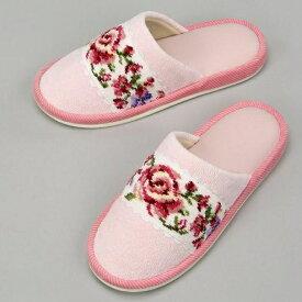 【即納可!!】再入荷しました♪日本製  FEILER フェイラー シェニール織り スリッパパールピンク 部屋履き アデリーナ ヒール無し薔薇 バラ