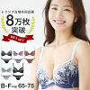[Triumph x SHIROHATO Collaboration] Double Lace Bra & Panties Set BCDEF cleavage