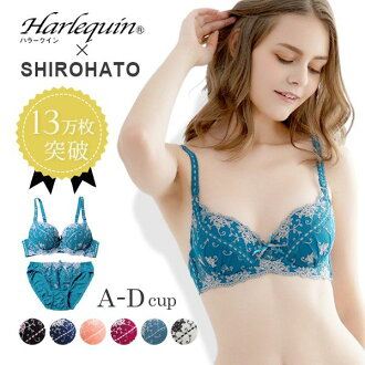 Harlequin X Shirohato Victorian Embroidery Push-up Bra Set (Sizes A-D)