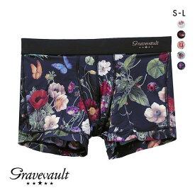 (グレイブボールト)Gravevault フローラプリント ショートボクサーパンツ メンズ