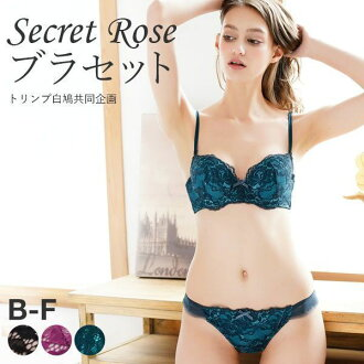 Triumph X Shirohato Secret Rose Lace Bra and Panty Set (Sizes B-F)