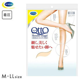 【メール便(10)】 (メディキュット)MediQttO スレンダーマジック 着圧 ストッキング -5cm レディース [ 大きいサイズ LLまで ]