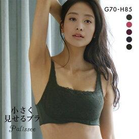 Palissee 大きな胸を小さく見せるブラ 脇高 脇肉 胸元カバー ブラジャー GH 総レース 大きいサイズ レディース アンダー80 アンダー85