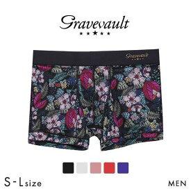 (グレイブボールト)Gravevault WILD FLOWERS ボクサーパンツ ショート メンズ 前とじ S M L 3051782
