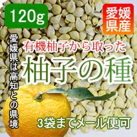 クリックポスト可【愛媛産】有機柚子の種 無添加な柚子を使用 120g