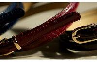 【送料無料】細ベルトクロコ柄艶レディース15mm華奢フェイクレザー合成皮革大人シンプル上品カジュアルビジネスBelt/oth-ux-be-1618【ベルト】【Belt】【宅配便のみ】
