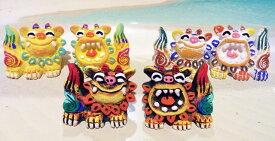 【シーサー・置物・玄関】米子焼★めんそーれS(3色)★置物・土産・人気・ギフト・新築祝い・内祝い・引っ越し祝い・寿・沖縄のペアシーサー・お土産として大人気・玄関でいらっしゃいませと皆さんをおでむかえしてくれます♪