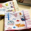 【名入れフェイスタオル 森の小さな友達】今治タオル imabari towel Japan ふわふわ 高い吸水性 幼稚園ネーム刺繍 名…
