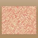【ラミ加工】クラフトクレープ包装紙(四角S)LOVE 3,000枚