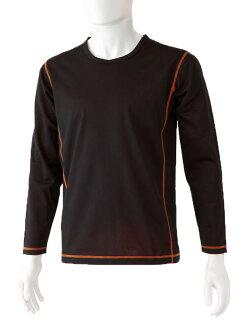 高い防風効果と透湿性で暖かくて快適!MORITOミッドインナープラスレイヤー男性用長袖防寒インナー重ね着専用