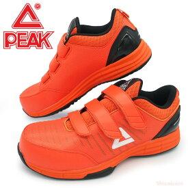 PEAK WOK-4506 セーフティースニーカー 【オレンジ】【25.0~28.0cm】 NBAバスケットボールプレイヤーが愛用しているブランドPEAKのセーフティーシューズ! セーフティースニーカー 安全スニーカー 安全靴 rev