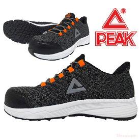 PEAK RUN-4508 セーフティースニーカー 【グレー】【25.0~28.0cm】 NBAバスケットボールプレイヤーが愛用しているブランドPEAKのセーフティーシューズ! JSAA規格認定 安全スニーカー 安全靴 rev