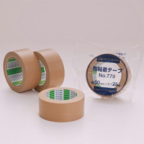 日東電工 布テープ 75mm幅×25m巻 No.770 1ケース(24巻入)(北海道・沖縄・離島も送料無料)