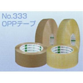 オカモトOPPテープ No.333 透明・クリーム巾60mm×長さ100m×厚さ0.053mm 3ケース(40巻入×3ケース)(HA)