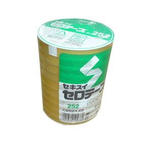 【ポイント3倍!5/15まで】 セロテープ セキスイNo.252 12mm×35m巻 1パック(10巻入り)