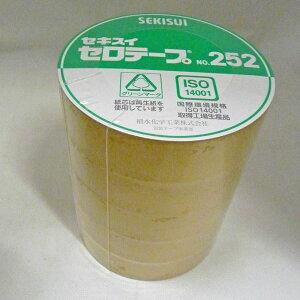 【ポイント3倍!5/15まで】 セロテープ セキスイNo.252 24mm×35m巻 1パック(5巻入り)