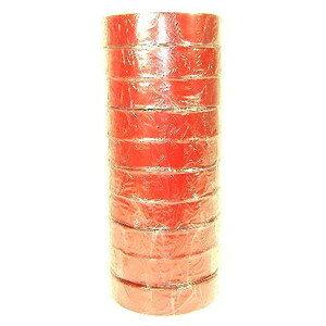 絶縁用 ビニールテープ (赤) 19mm×20m 10巻パック