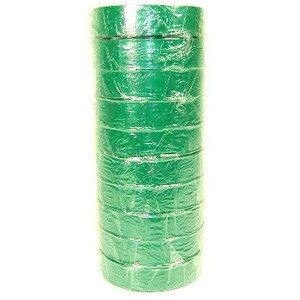 【ポイント3倍!5/15まで】 絶縁用 ビニールテープ (緑) 19mm×20m 10巻パック