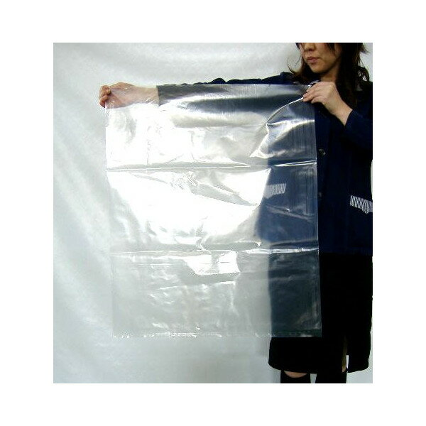 ポリ袋(ビニール袋) ( 厚手 / 透明 )0.08mm×650mm×800mm ( 45L サイズ )100枚 【当店製造品】