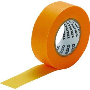 TRUSCO 建築塗装用マスキングテープ 幅12mm長さ18m 10巻入 イエロー (OB)