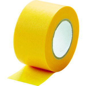 TRUSCO 建築塗装用マスキングテープ 幅30mm長さ18m 4巻入 イエロー (OB)