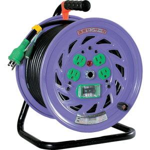 日動 電工ドラム 標準型100Vドラム アース漏電しゃ断器付 30m 《発注単位:1台》(OB)