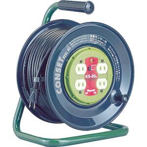 ハタヤ コンセント盤固定型コードリール コンセットリール 単相100V 30m 《発注単位:1台》(OB)