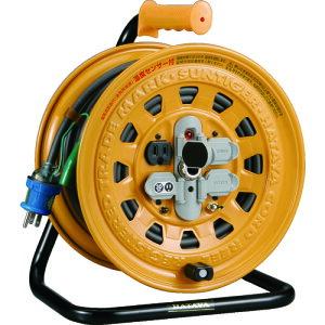 ハタヤ 温度センサー付コードリール 単相100V 30mアース付・ブレーカー付 《発注単位:1台》(OB)