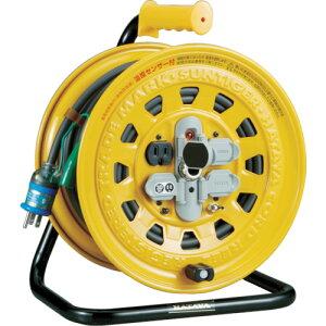 ハタヤ 温度センサー付コードリール 単相100V 30m ブレーカー付 《発注単位:1台》(OB)