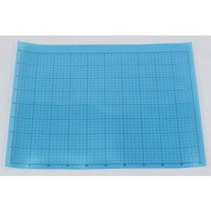 TRUSCO 液晶保護フィルム フッ素光沢 基材100ミクロン シリコン粘着剤50ミクロン 400X500MM 方眼印刷、R定規付 《発注単位:1枚》(OB)
