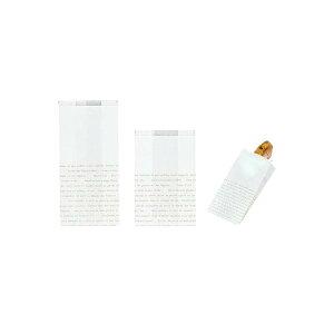 レシピ柄耐油紙マチ付袋 No.183(大) 120(70)×230+15mm 100枚(Y000987)