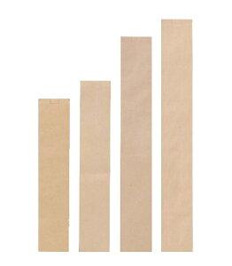 フランスパン紙袋 無地(茶) 特大 100(70)×725+18mm 50枚(Y001082)