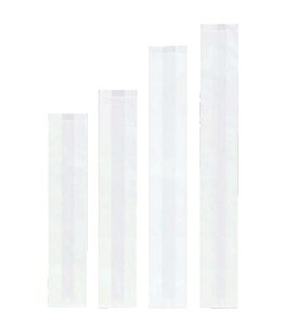 フランスパン紙袋 無地(白) 小 100(70)×475+18mm 50枚(Y001081)