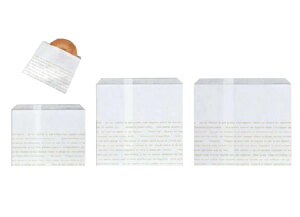 レシピ柄耐油紙袋 No.181(中) 190×180+15mm 100枚(Y000979)
