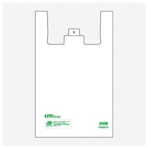 バイオマスレジ袋 バイオエコナバッグ 50号 LX 乳白 100枚 袋入   ビニール袋 バイオマス レジ袋