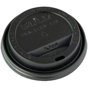 【ポイント3倍!5/15まで】 日本ストロー SOLO紙カップ蓋12オンス用リッド 黒《発注単位:袋(100個)》(Y000851)