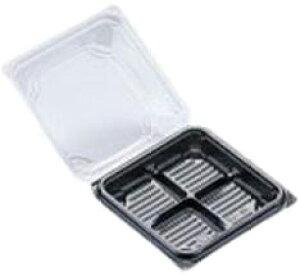 北原産業 和菓子用フードパック DS-40 片黒 (50枚入り)(Y002644)