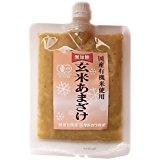 自然栽培のお米と水のみで作った玄米甘酒(粒)250g×6個入