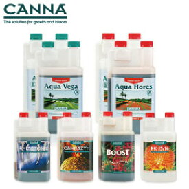 水耕栽培の液体肥料 CANNA AQUA キャナアクア ベース肥料1L+活力剤 250ml セット Hydroponic Nutrients