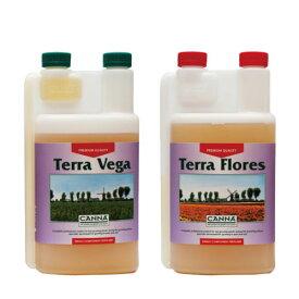 土壌専用の液体肥料 Canna Terra(キャナ・テラ) 1L SET Vega/Floresセット Hydroponic Nutrients