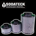植物育成用 SODATECK 空気清浄 換気エアーフィルター Φ100mm×300mm