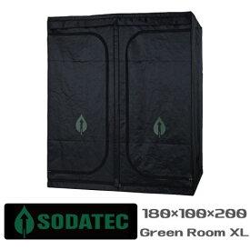 水耕栽培 グロウボックス「SODATECK GREEN ROOM XL(180x100x200cm)」植物育成ライト LED,水耕栽培 キットも設置できる【安心の1年保証】 GROW TENT