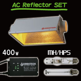 植物育成ライトの400Wセット 送料込【Sodateck ソダテック3段階で調光可能で24時間タイマー内臓】 GROW LIGHT