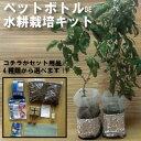 【送料込】【栽培セット】お家で簡単に出来るペットボトルDE水耕栽培 肥料付き 2株用