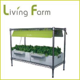 LED 水耕栽培 キット 送料無料[リビングファーム RW4]植物育成LED付きのオールインワンタイプのLED 水耕栽培 キット