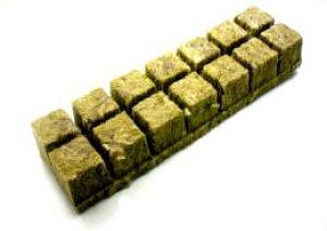 水耕栽培 ロックウール 栽培マット 1キューブサイズ:36×36×40mmが1シート 14キューブ入り grodan Refill Cubes-S